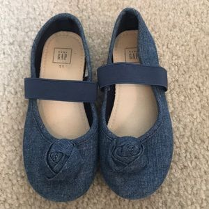 Adorable Denim slip ons with strap